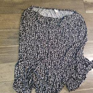 Long black and white CJ Banks 2x long skirt